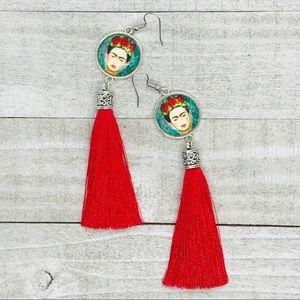 Frida Kahlo Inspired Tassel Earrings